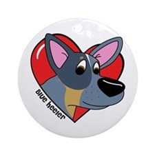 Cartoon Blue Heeler Love Ornament (Round)