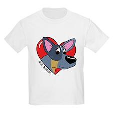 Cartoon Blue Heeler Love T-Shirt