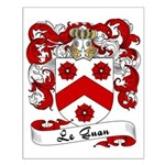 Le Guan Family Crest Small Poster