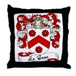 Le Guan Family Crest Throw Pillow