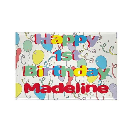 Madeline's 1st Birthday Rectangle Magnet