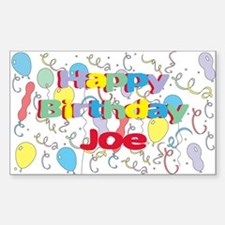 Happy Birthday Joe Rectangle Decal