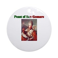Feast of San Gennaro Ornament (Round)
