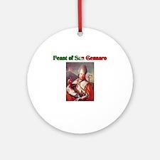 Feast of San Gennaro Ornament (Round)