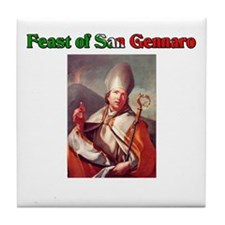 Feast of San Gennaro Tile Coaster