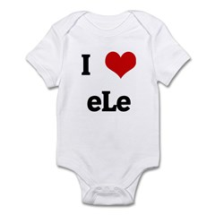 I Love eLe Infant Bodysuit