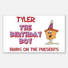 Tyler - The Birthday Boy Rectangle Decal