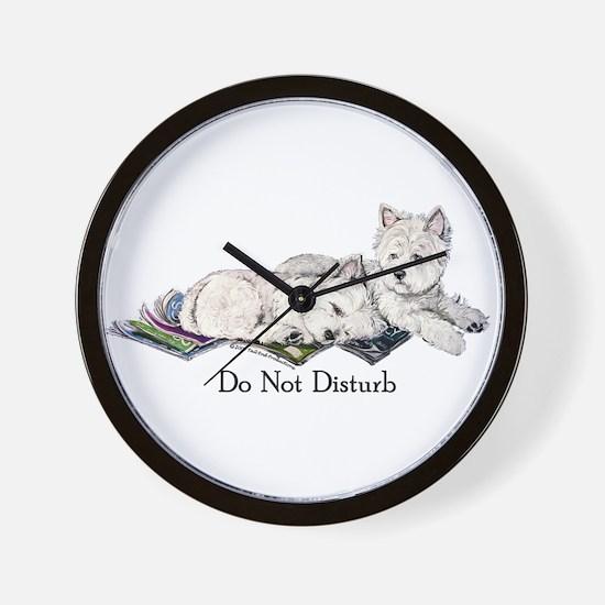 WestHighland White Terrier Da Wall Clock