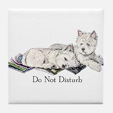 WestHighland White Terrier Da Tile Coaster