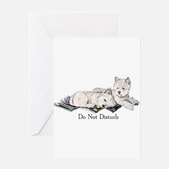 WestHighland White Terrier Da Greeting Card