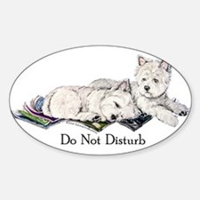 WestHighland White Terrier Da Oval Decal