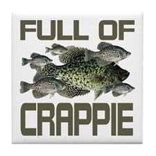 Full of Crappie Tile Coaster