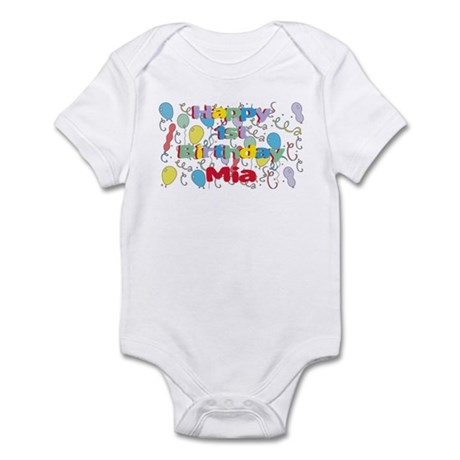Mia's 1st Birthday Infant Bodysuit