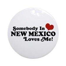 Somebody In New Mexico Loves Me Ornament (Round)