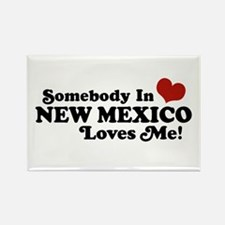 Somebody In New Mexico Loves Me Rectangle Magnet