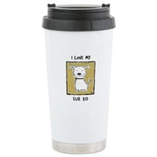 """I Love My Fur Kid"" (green) Travel Mug"