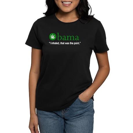 Obama I Inhaled Women's Dark T-Shirt
