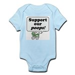 Support Our Poops -  Infant Creeper