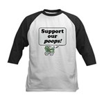 Support Our Poops -  Kids Baseball Jersey