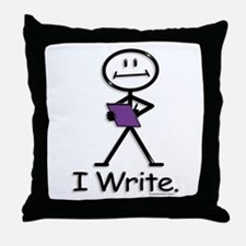 BusyBodies Writer Throw Pillow