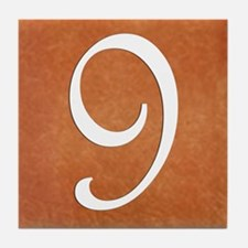 Terra Cotta Look Number 9 Tile Coaster