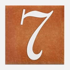 Terra Cotta Look No 7 House Number Tile Coaster