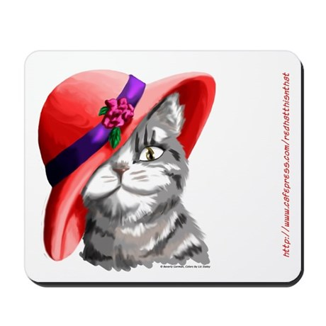 Red Hat Cat Mousepad