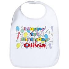 Olivia's 1st Birthday Bib
