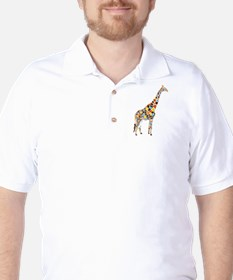 Multicolored Giraffe T-Shirt