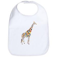 Multicolored Giraffe Bib