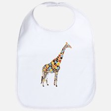 Multicolored Giraffe Bib