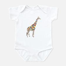 Multicolored Giraffe Infant Bodysuit
