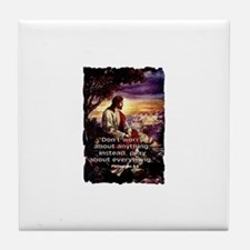 Pray about Everything Tile Coaster