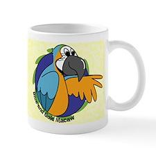 Cartoon Bird B&G Macaw Mug