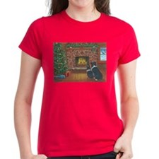 Santa Watch Border Collies Tee