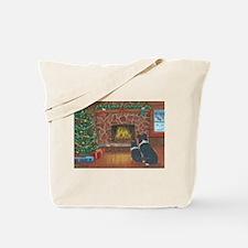 Santa Watch Border Collies Tote Bag