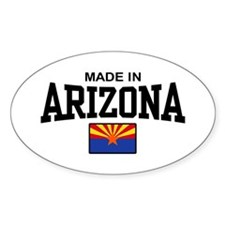 Made in Arizona Oval Decal