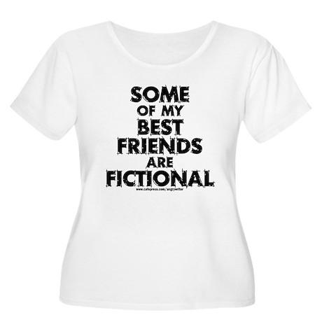 Fictional Friends Women's Plus Size Scoop Neck T-S