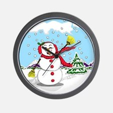 Snowtime Is Showtime! Wall Clock