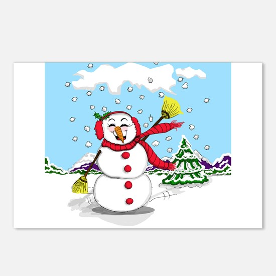 Snowtime Is Showtime! Postcards (Package of 8)