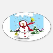 Snowtime Is Showtime! Oval Decal
