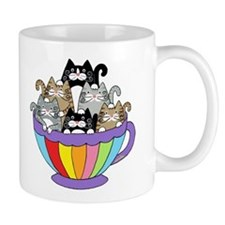 Catpuccino, 6 Cats in a Cup Coffee Mug