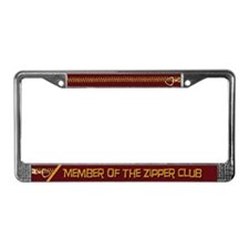 Zipper Club License Plate Frame