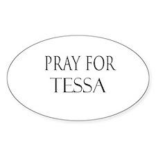 TESSA Oval Decal