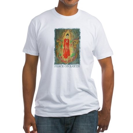 enlightened budda peace on ea Fitted T-Shirt