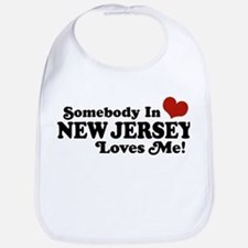 Somebody in New Jersey Loves Me Bib