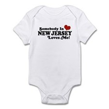 Somebody in New Jersey Loves Me Infant Bodysuit