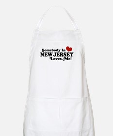 Somebody in New Jersey Loves Me BBQ Apron