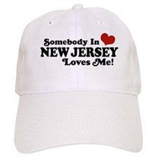 Somebody in New Jersey Loves Me Cap