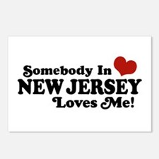 Somebody in New Jersey Loves Me Postcards (Package